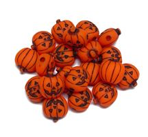 20mm Jack-O-Lantern Antiqued Neon Orange