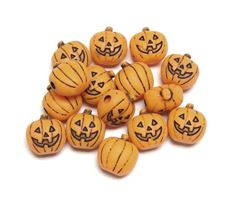 20mm Jack-O-Lantern Antiqued Orange