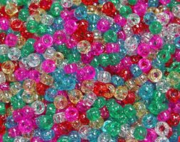6.5x4mm Multi Sparkle Mini Pony Beads beads,beading,mini.small,pony beads,USA,American, made