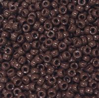 6.5x4mm Opaque Brown Mini Pony Beads beads,beading,mini.small,pony beads,USA,American, made