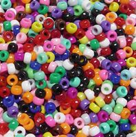 6.5x4mm Opaque Multi Colors Mini Pony Beads beads,beading,mini.small,pony beads,USA,American, made