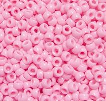 6.5x4mm Opaque Pink Mini Pony Beads beads,beading,mini.small,pony beads,USA,American, made