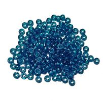 6.5x4mm Teal Sparkle Mini Pony Beads beads,beading,mini.small,pony beads,USA,American, made