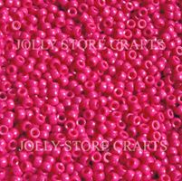 7x4mm Opaque Dark Pink Mini Pony Beads beads,beading,mini.small,pony beads,USA,American, made