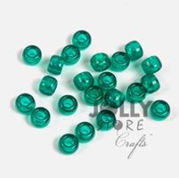 9x6mm Emerald Pony Beads 500pc kids,beads,crafts,pony beads