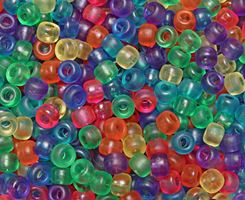 9x6mm Frosted Multi Colors Pony Beads 500pc kids,beads,crafts,pony beads