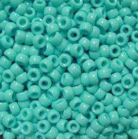 9x6mm Opaque Light Turquoise Pony Beads 500pc kids,beads,crafts,pony beads