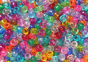 9x6mm Transparent Multi Colors Pony Beads 500pc kids,beads,crafts,pony beads
