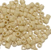 Beige Czech Glass Tile Beads 250pc.