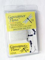 Gossamer Floss White Thread Beading Cord with Needle