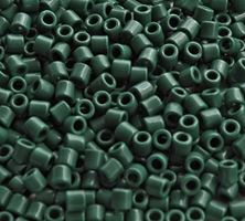 Hunter Green Czech Glass Tile Beads 250pc.