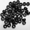 Opaque Jet Black Czech Glass 9mm Pony Beads 100pc