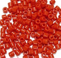 Orange Czech Glass Tile Beads 250pc.