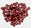 Siam Ruby Silver Foil Lined Czech Glass 6mm Mini Pony Beads 100pc
