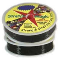 Stretch Magic Black, 1mmx25M Spool stretch,magic,clear,string,cord,USA