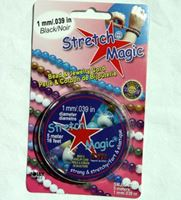 Stretch Magic Black, 1mmx5M Spool stretch,magic,clear,string,cord,USA