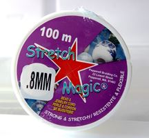 Stretch Magic Clear, .8mmx100M Spool stretch,magic,clear,string,cord,USA