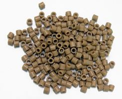Tan Czech Glass Tile Beads 250pc.