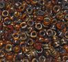 Tiger Eye Czech Glass 9mm Pony Beads 100pc