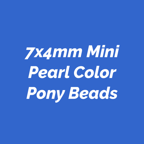 7x4mm Mini Pony Beads with pearl like finish.