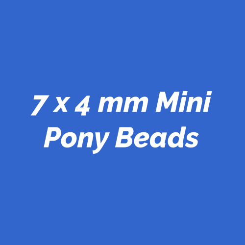 7x4mm Mini Pony Beads Proudly Made in the USA