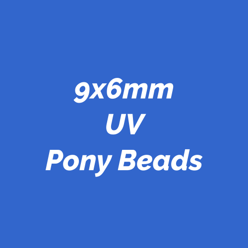 9x6mm UV Pony Beads made in America.