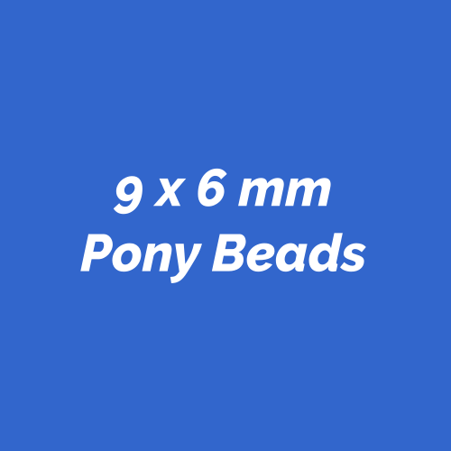 9x6mm Plastic Pony Beads