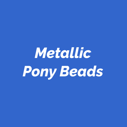 Metallic Pony Beads. Metallic coated acrylic pony beads.