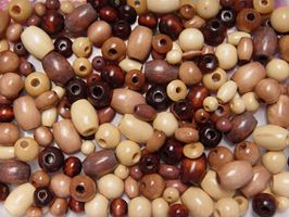 Small Assorted Wood Craft Beads wood,craft,beads