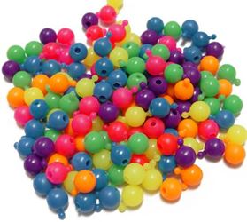 12mm Pop Beads, Neon Multi Colors 144pc snap,pop,crafts,beads
