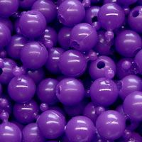 12mm Opaque Plum Pop Beads, 144 Beads, enough to make approx. 6ft chain.
