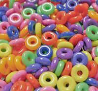 14mm Rings Circus Fun Multi Colors 100pc plastic,rings,toys,birds