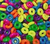 14mm Rings Neon Fun Multi Colors 100pc