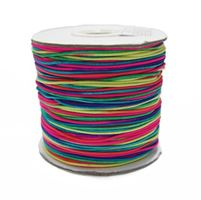 1mm Rainbow Elastic Cord string 100M/328ft Spool rainbow,elastic,string,cord,stretch. material