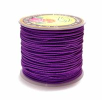 1mm Royal Purple Elastic Cord string 21M/68ft Spool purple,elastic,string,cord,stretch. material
