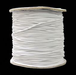 1mm White Elastic Cord string 100M/328ft Spool black,elastic,string,cord,stretch. material