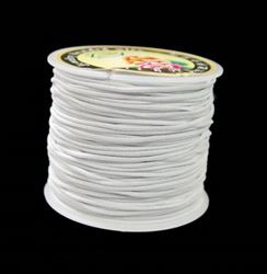 1mm White Elastic Cord string 21M/68ft Spool white,elastic,string,cord,stretch. material