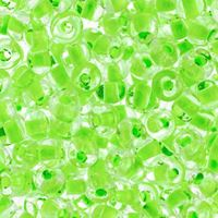 2/0 Neon Green Lined Crystal Czech Glass Seed Beads seed, beads,jablonex,glass,czech,Preciosa,Czechoslovakian