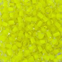 2/0 Neon Yellow Lined Crystal Czech Glass Seed Beads seed, beads,jablonex,glass,czech,Preciosa,Czechoslovakian