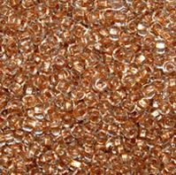 Preciosa 6/0 Copper Lined Crystal Czech Glass Seed Beads