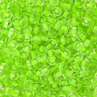 6/0 Neon Green Lined Crystal Czech Glass Seed Beads seed, beads,jablonex,glass,czech,Preciosa,Czechoslovakian