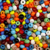6/0 Opaque Multi Color Mix Czech Glass Seed Beads