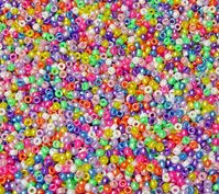 6.5x4mm Multi Pearl Colors Mini Pony Beads beads,beading,mini.small,pony beads,USA,American, made