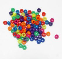 6.5x4mm Neon Multi Color Mini Pony Beads beads,beading,mini.small,pony beads,USA,American, made