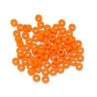6.5x4mm Neon Orange Mini Pony Beads beads,beading,mini.small,pony beads,USA,American, made