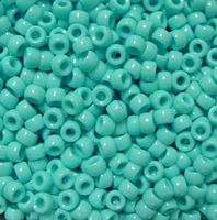 6.5x4mm Opaque Light Turquoise Mini Pony Beads beads,beading,mini.small,pony beads,USA,American, made