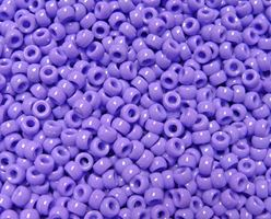 6.5x4mm Opaque Lilac Mini Pony Beads beads,beading,mini.small,pony beads,USA,American, made