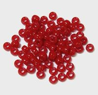 6.5x4mm Opaque Red Mini Pony Beads beads,beading,mini.small,pony beads,USA,American, made