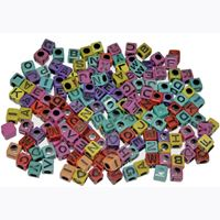 6mm Alphabet Cube Beads Assorted Colors 160pc beads,alphabet.letter,