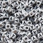 "7mm Alphabet Cube Brite Beads - Letter ""Y"" beads,alphabet.letter,"
